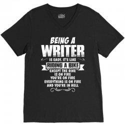 Being A Writer... V-Neck Tee   Artistshot