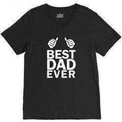 Best Dad Ever V-Neck Tee | Artistshot