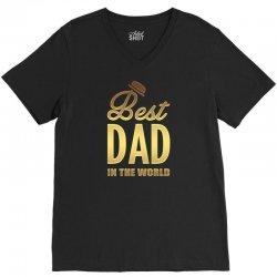 Best Dad in the World V-Neck Tee | Artistshot