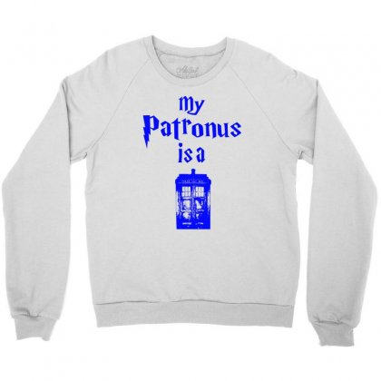 My Patronus  Is A Tardis Crewneck Sweatshirt Designed By Killakam