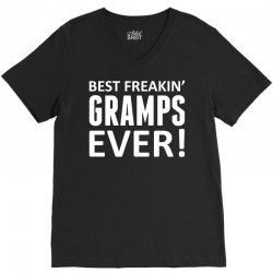 Best Freakin' Gramps Ever V-Neck Tee   Artistshot