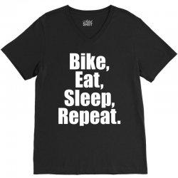 Bike Eat Sleep Repeat V-Neck Tee | Artistshot