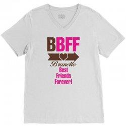 Brunette Best Friends Forever V-Neck Tee   Artistshot