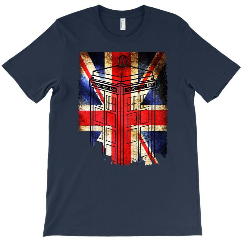 Tardis British Flag T-shirt   Artistshot