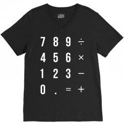 Calculator V-Neck Tee | Artistshot