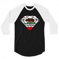 California Diamond 3/4 Sleeve Shirt | Artistshot