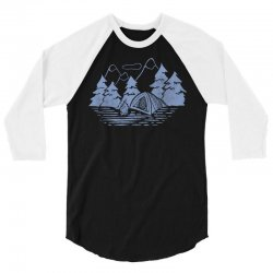Camping 3/4 Sleeve Shirt   Artistshot