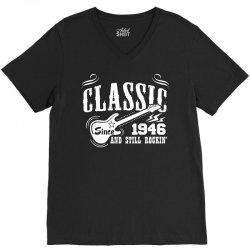Classic Since 1946 V-Neck Tee   Artistshot