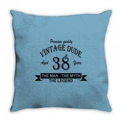 aged 38 years Throw Pillow | Artistshot