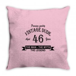 aged 46 years Throw Pillow | Artistshot