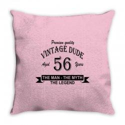 aged 56 years Throw Pillow | Artistshot