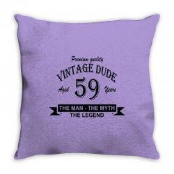 aged 59 years Throw Pillow | Artistshot