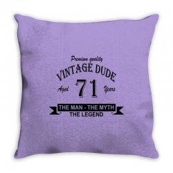 aged 71 years Throw Pillow   Artistshot