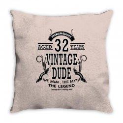 vintage-dud-32-years Throw Pillow | Artistshot