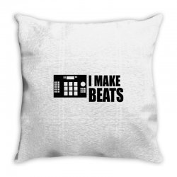 i make beats Throw Pillow | Artistshot