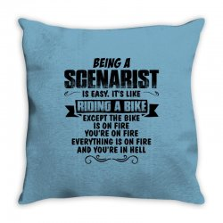 being a scenarist copy Throw Pillow | Artistshot