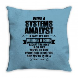 being a systems analyst copy Throw Pillow | Artistshot