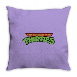 funny birthday shirt i'm actually in my thirties raglan 30th 30 years old gift idea for him or her years old Throw Pillow | Artistshot