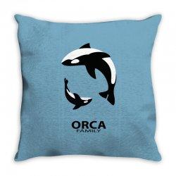ORCA FAMILY Throw Pillow | Artistshot