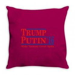 trump putin 2016 Throw Pillow   Artistshot