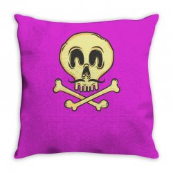 funny skull mustache Throw Pillow | Artistshot