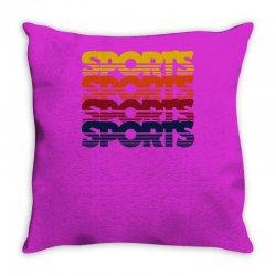 vintage sports Throw Pillow   Artistshot