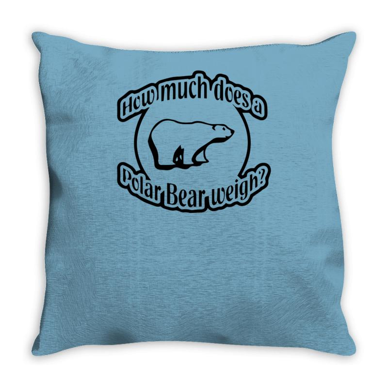 Custom How Much Does A Polar Bear Weigh Throw Pillow By Gematees