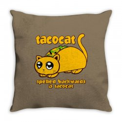 funny tacocat Throw Pillow | Artistshot