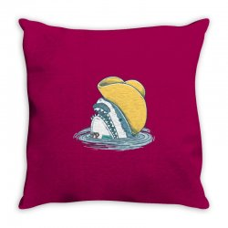 funny hat shark Throw Pillow   Artistshot