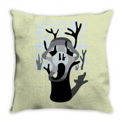the tree's scream Throw Pillow | Artistshot