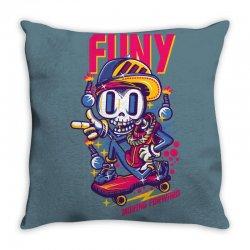 funny skate Throw Pillow | Artistshot