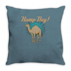 funny hump day camel Throw Pillow   Artistshot