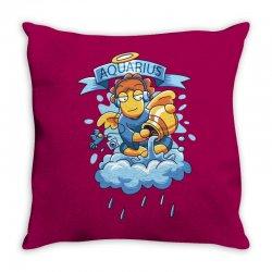 FUNNY ZODIAC SIGNS AQUARIUS Throw Pillow | Artistshot