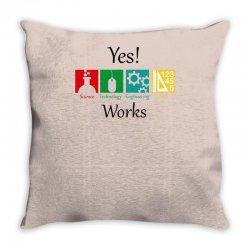 yes work science Throw Pillow   Artistshot