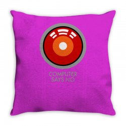 computer says no funny geek game Throw Pillow | Artistshot