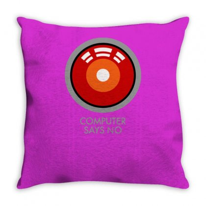Computer Says No Funny Geek Game Throw Pillow Designed By Tonyhaddearts