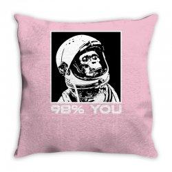 funny monkey astronomy Throw Pillow | Artistshot