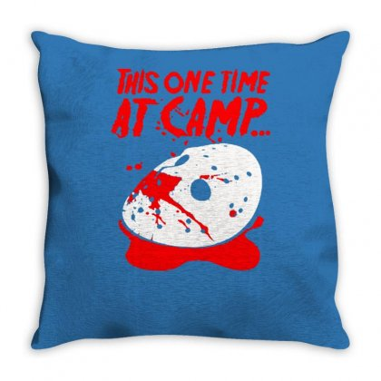 Women's This One Time At Camp Throw Pillow Designed By Tonyhaddearts