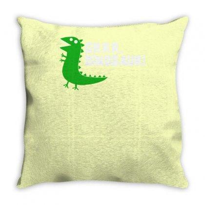 Grrr Mr Dinosaur Throw Pillow Designed By Tonyhaddearts