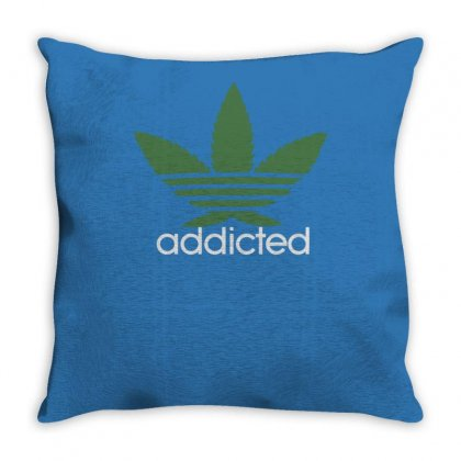 Mens Cannabis Addicted Parody Throw Pillow Designed By Tonyhaddearts