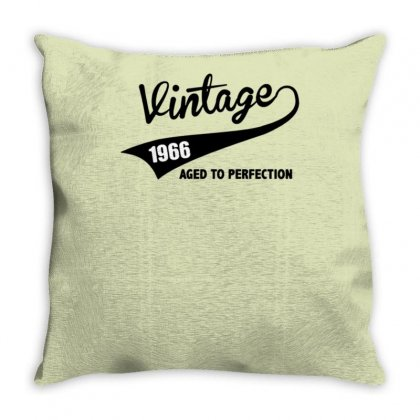 Vintage 1966 Aged To Perfection Throw Pillow Designed By Tonyhaddearts
