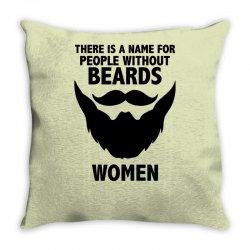 funny beards Throw Pillow | Artistshot