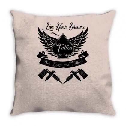 Tattoo Style Mens Vest Throw Pillow Designed By Tonyhaddearts
