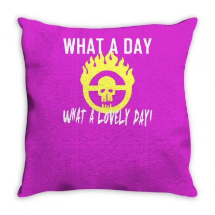 What A Lovely Day War Boys Throw Pillow Designed By Tonyhaddearts