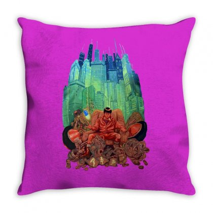 Akira Anime Throw Pillow Designed By Tonyhaddearts