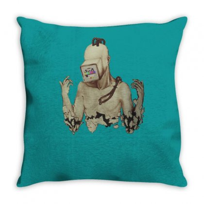 Cyborg Throw Pillow Designed By Tonyhaddearts