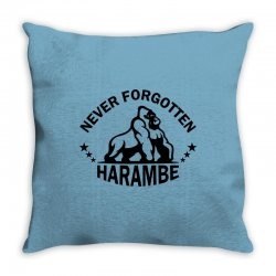 Never Forgotten Harambe Throw Pillow | Artistshot