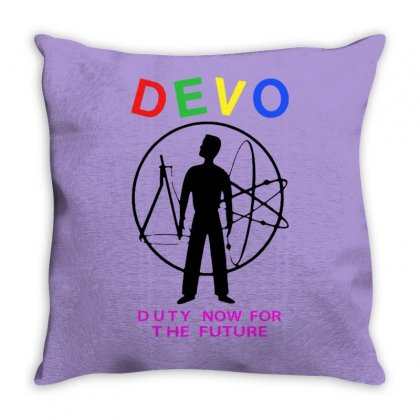 Devo   Duty Now For The Future Throw Pillow Designed By Tonyhaddearts