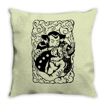 Dracula Throw Pillow Designed By Tonyhaddearts