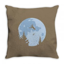 funny et moon bmx Throw Pillow | Artistshot